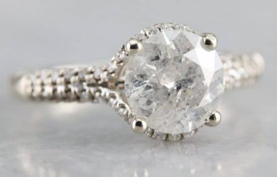 A fracture-filled diamond ring.