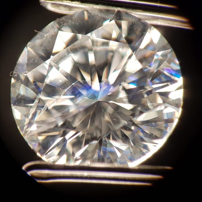 A diamond with inclusions.