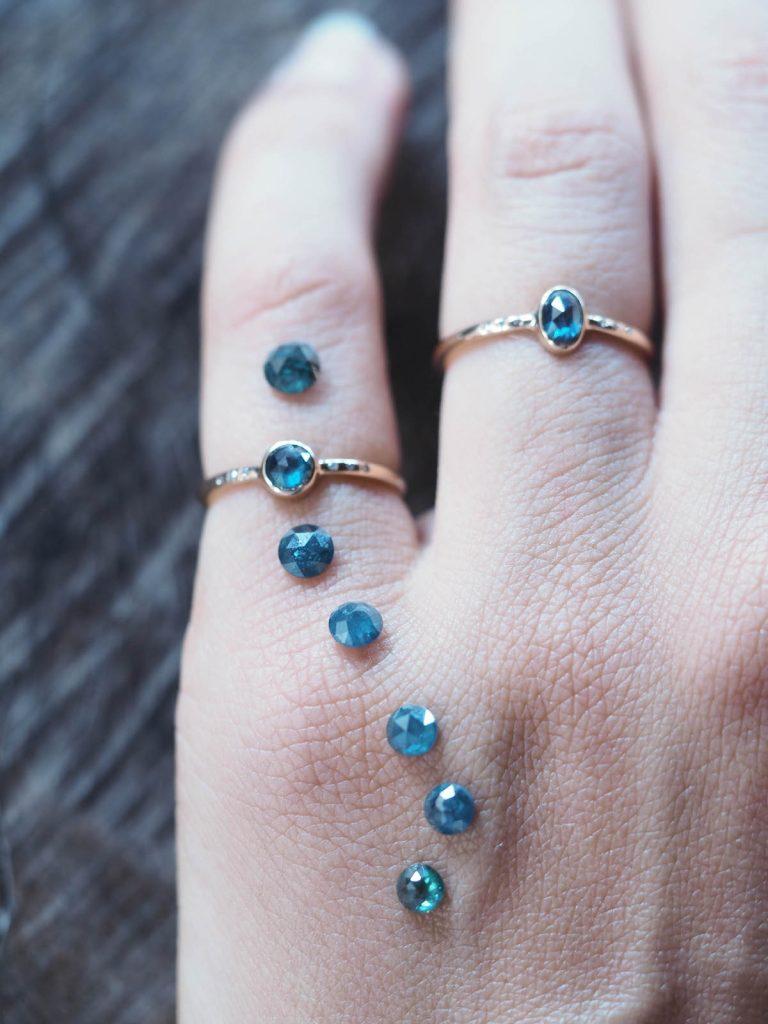 Mermaid blue diamonds