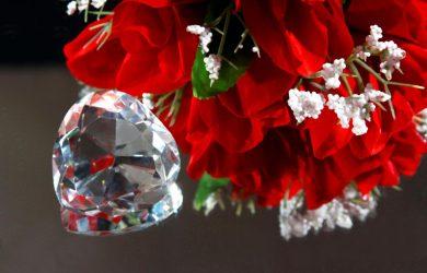 Valentine diamonds and roses