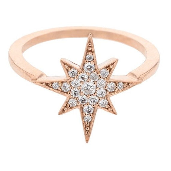 A beautiful diamond star ring