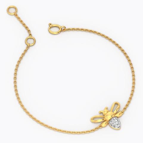 Diamond bee bracelet for kids