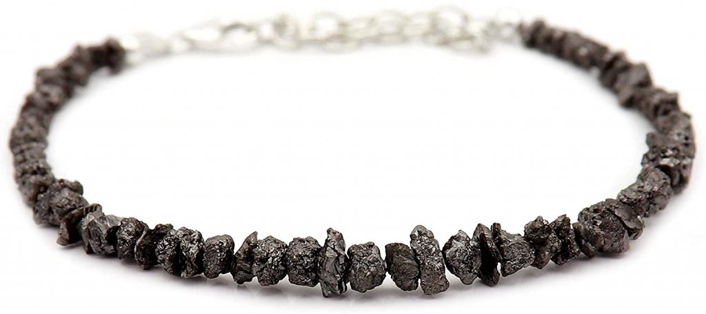 Rough black diamond jewelry for the fall season