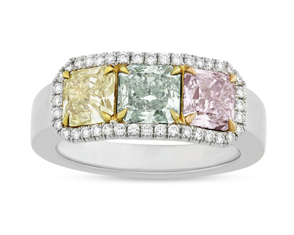 Enhanced colored diamonds need special protection from high heat.