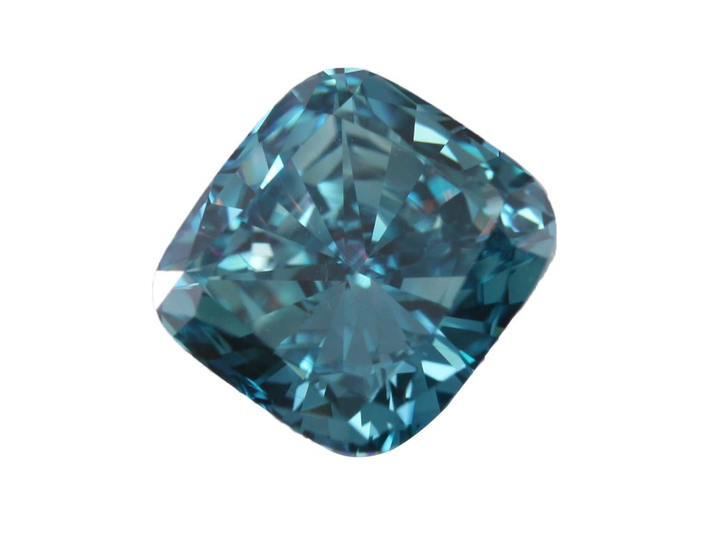 Beautiful blue clarity enhanced diamond