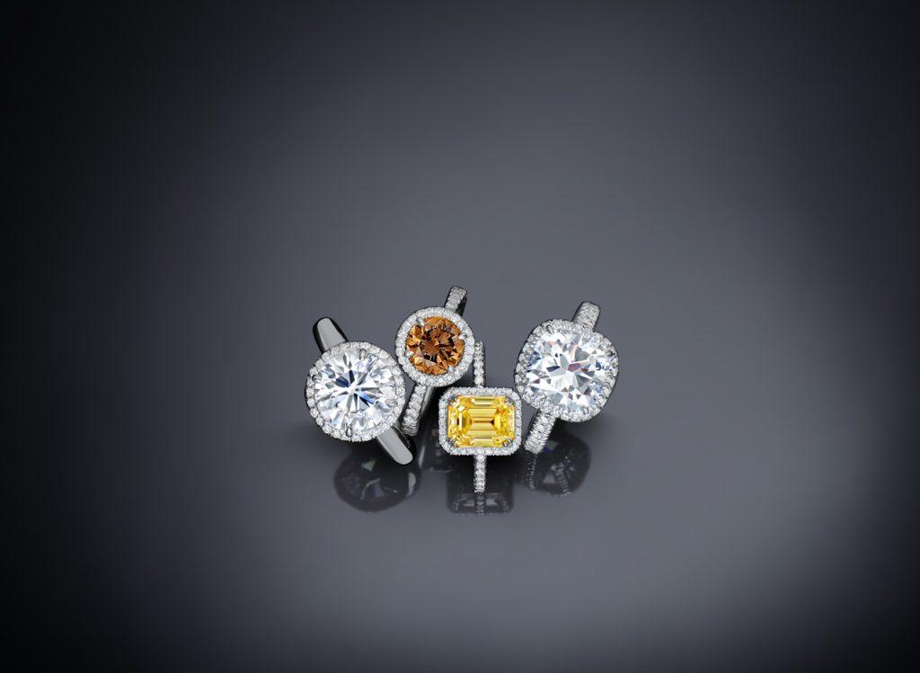 Stunning treated diamonds