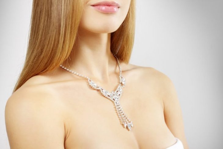 Stunning treated diamond necklace.