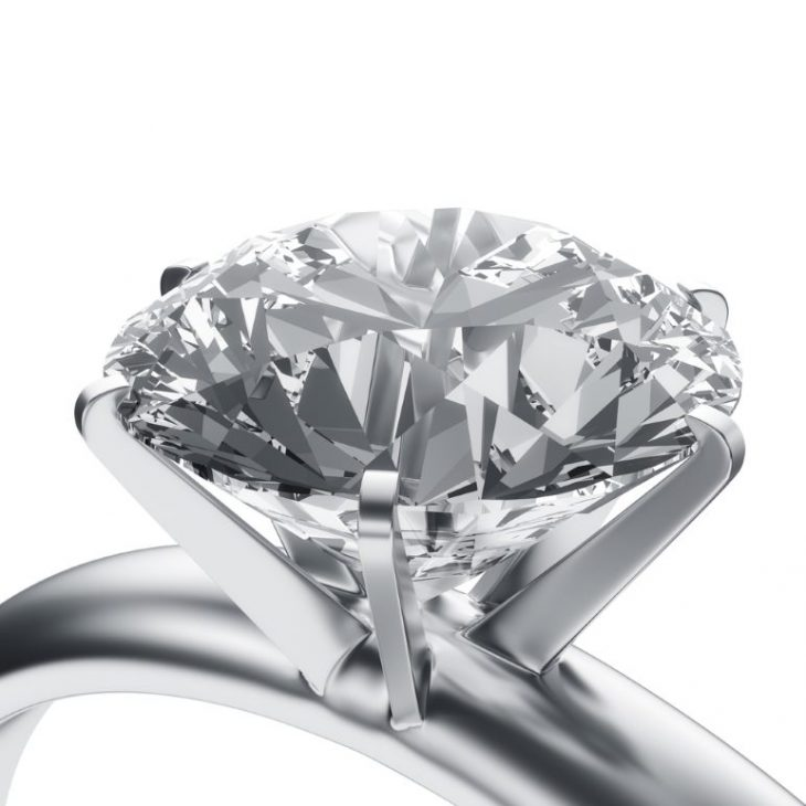Clarity enhanced diamond will all imperfections laser drilled and filled.