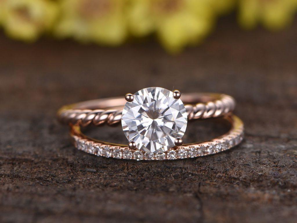 Diamond jewelry cleaned by a jeweler