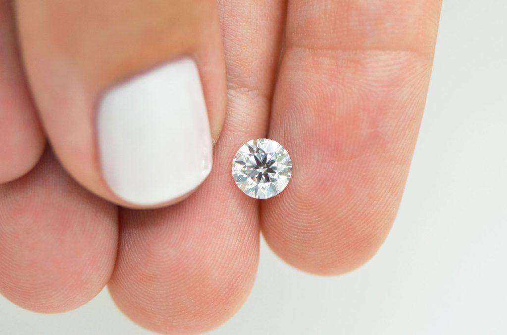A clean, enhanced diamond