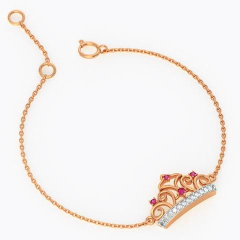 Diamond crown jewelry bracelet for kids
