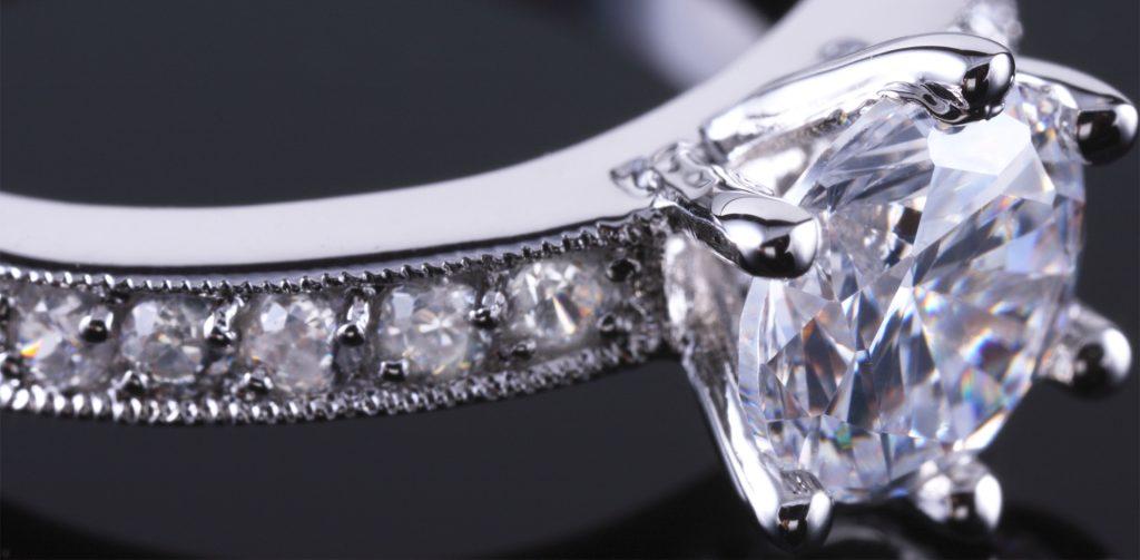 Glittering product of diamond laser drilling