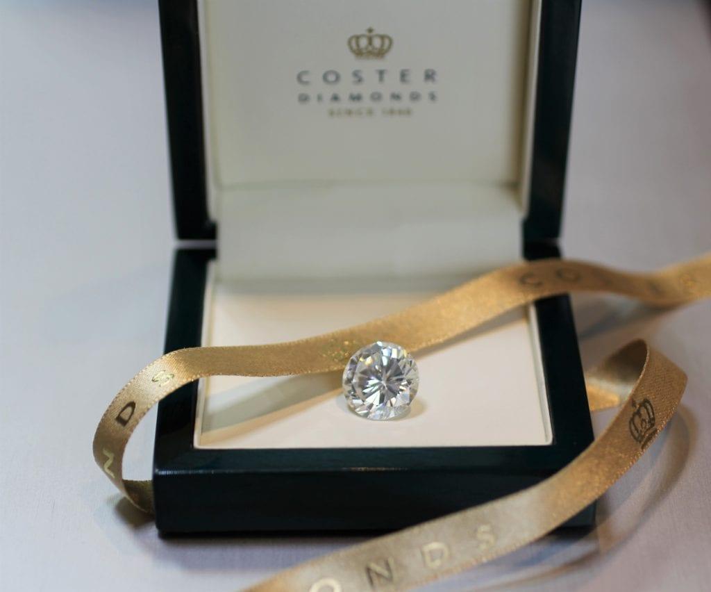 A diamond delivered in its original box