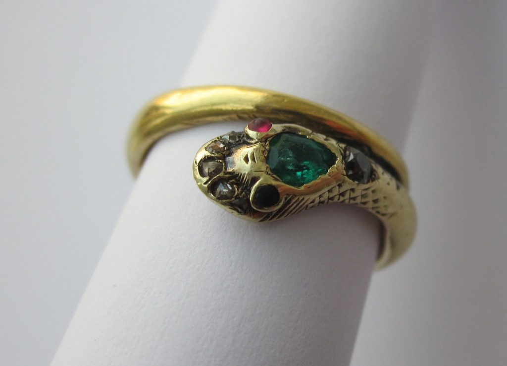 An antique family ring.