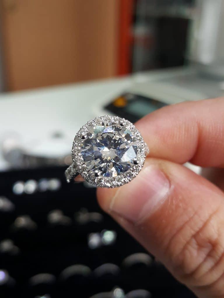 Clarity enhanced diamond on your finger.