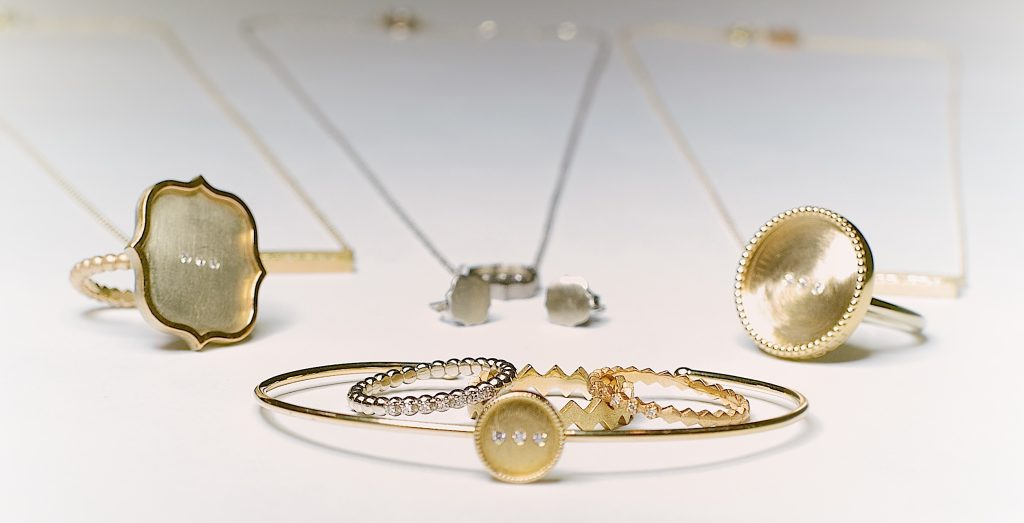 A collection of delicate pieces of jewelry