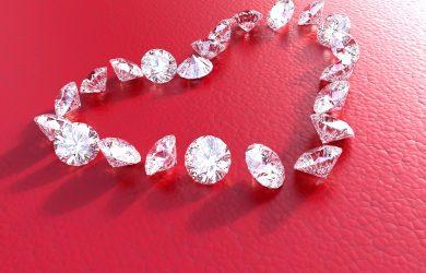 A heart made of diamonds