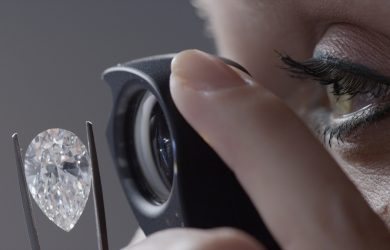 The stone's clarity is graded by GIA.