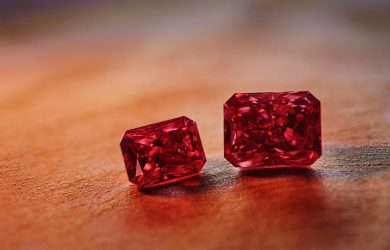 Rare red diamonds