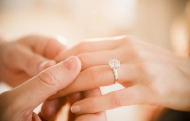 Thanksgiving engagement diamonds