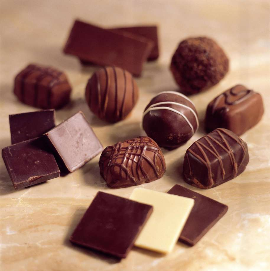 Precious stones inside chocolates.