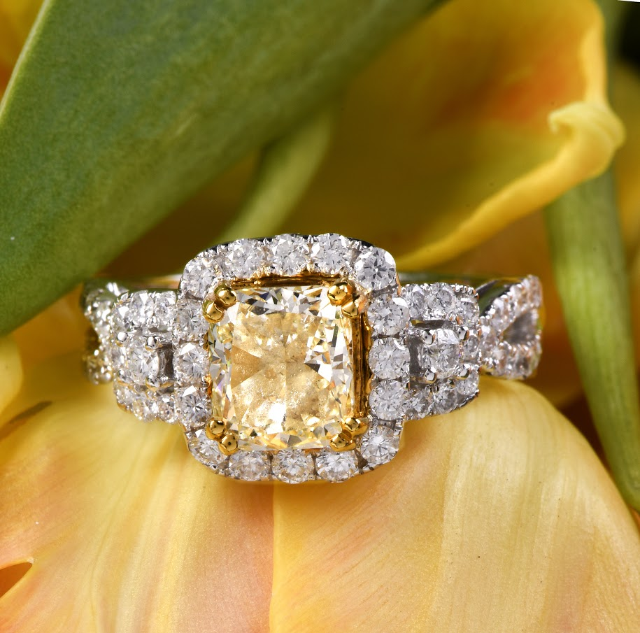 A stunning heirloom engagement ring.