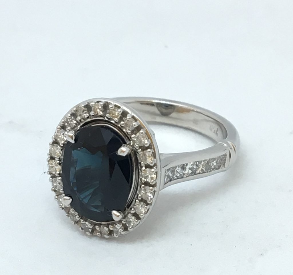 Resized heirloom engagement ring