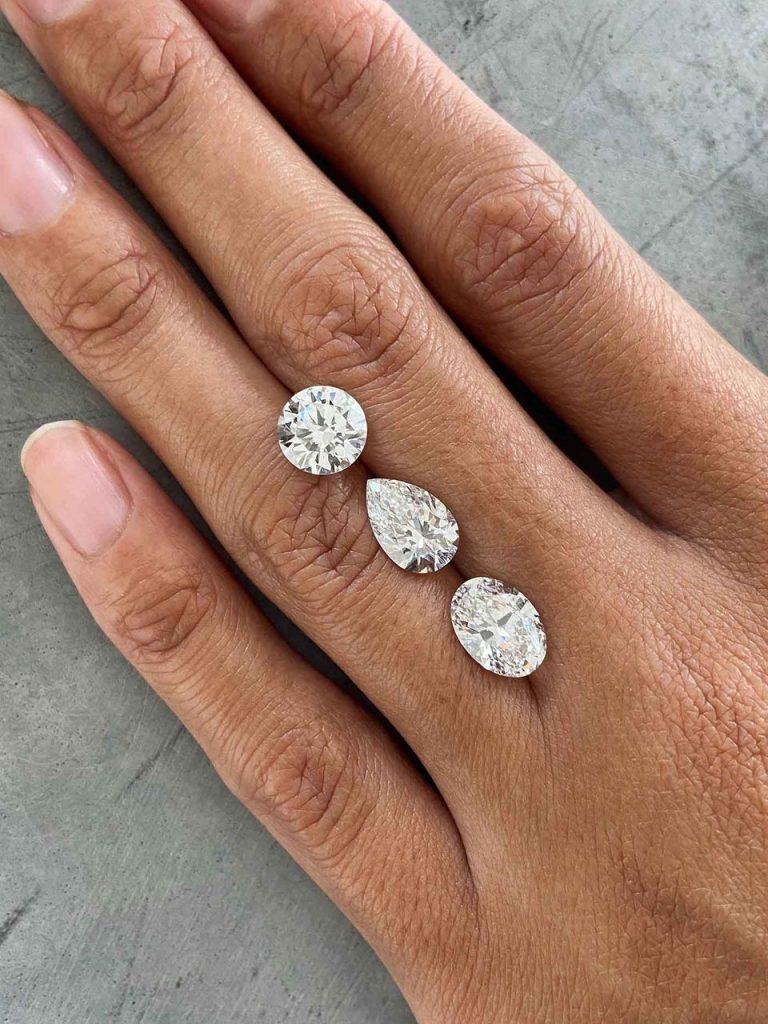 Beautiful synthetic diamonds