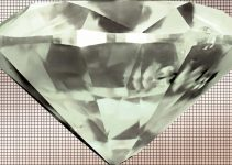 Large Diamond on tile background