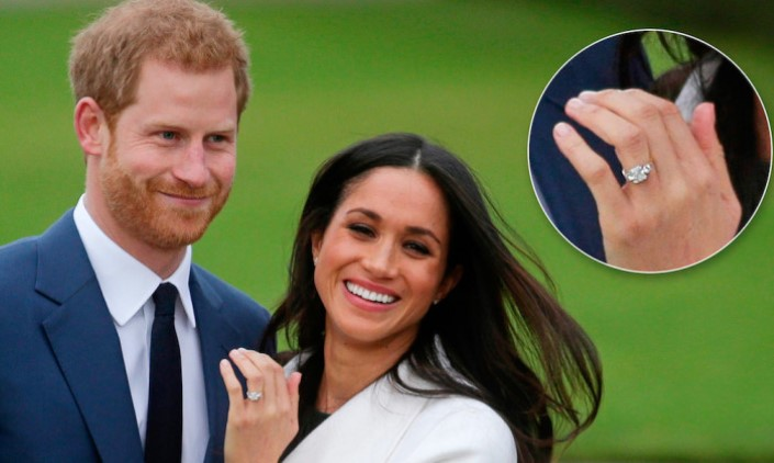 Meghan Markle's engagement ring is most certainly a natural stone.