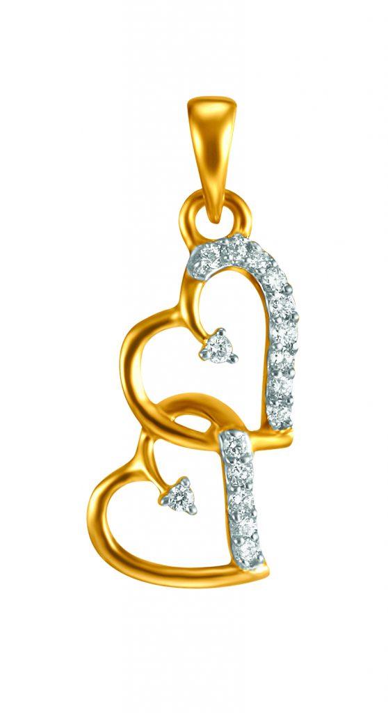 The sparkle of a precious valentine pendant.