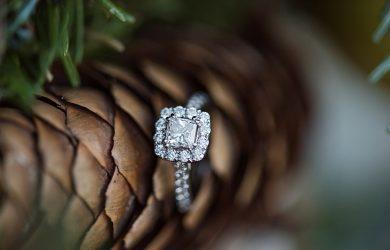 Christmas proposal diamond
