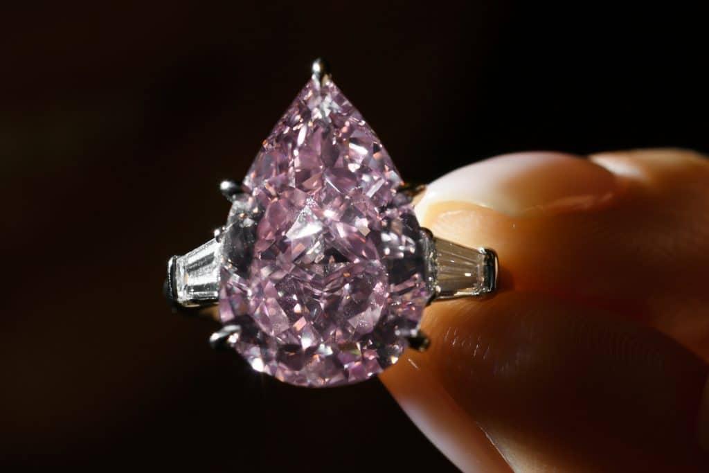 Exquisite rare pink diamond on auction