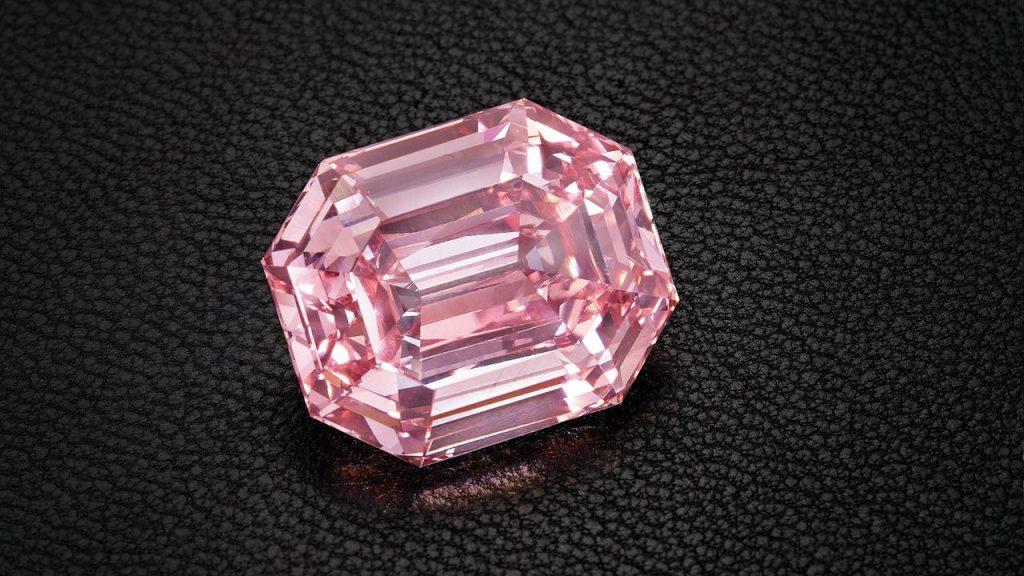 A pink diamond waiting to be set