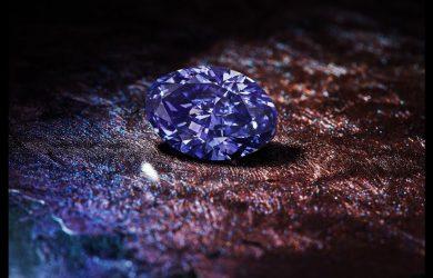 Natural purple diamonds are rare