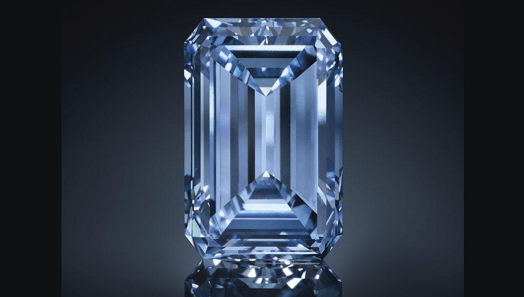 Brilliant blue, rare diamond.