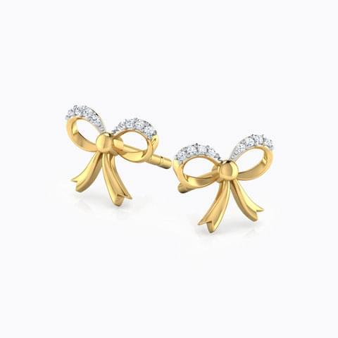 Beautiful diamond ribbon earrings