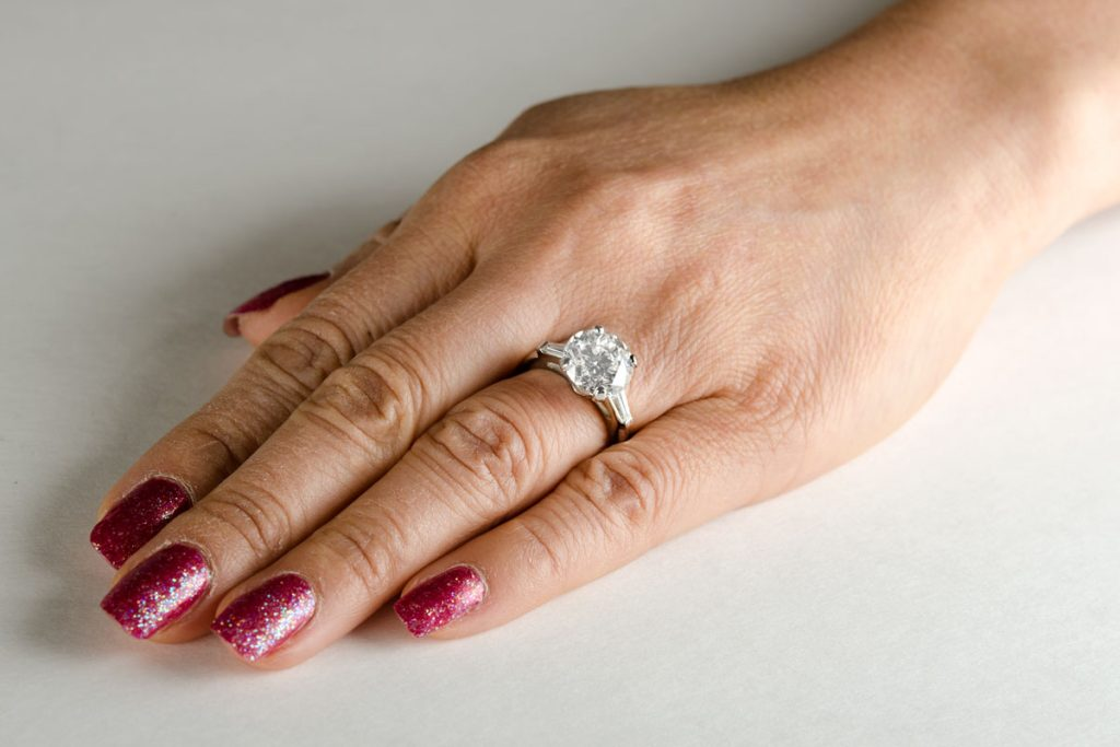 Diamond rings like this should be in the safety of a jewelry box on occasion.