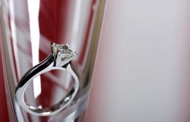 New Year proposal diamonds