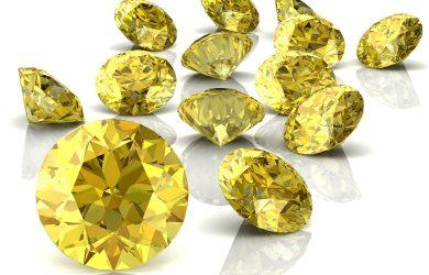 Refreshing yellow diamonds